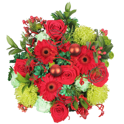 Christmas Colors Holiday Centerpiece
