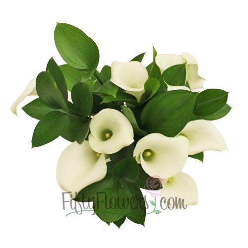 Off White Mini Callas Centerpieces