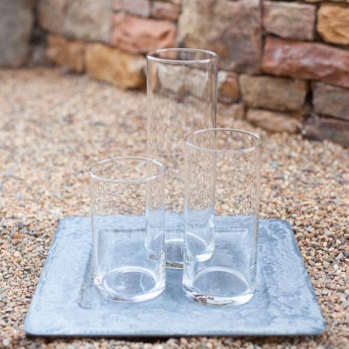 Single Cylinder Glass Vase Trio