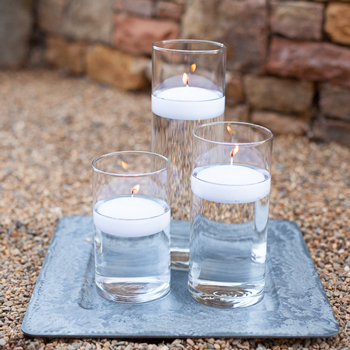24 Floating Candles 3 Inch wide
