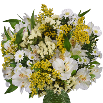 Kiss of Yellow Flower Centerpiece