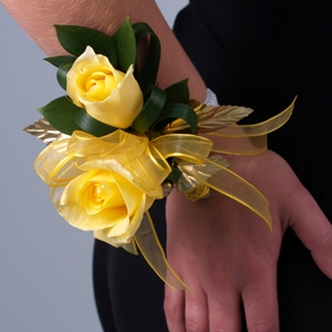 Gold Boutonniere and Corsage Package