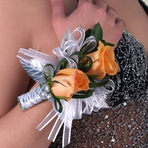 Silver Boutonniere and Corsage Package