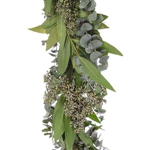 Mixed Eucalyptus and Bay Leaf Garland