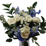 Blue, Yellow and Pink Flowers Bridal Centerpieces