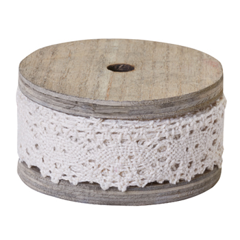 OASIS™ Cluny Lace Antique White, 1 Inch
