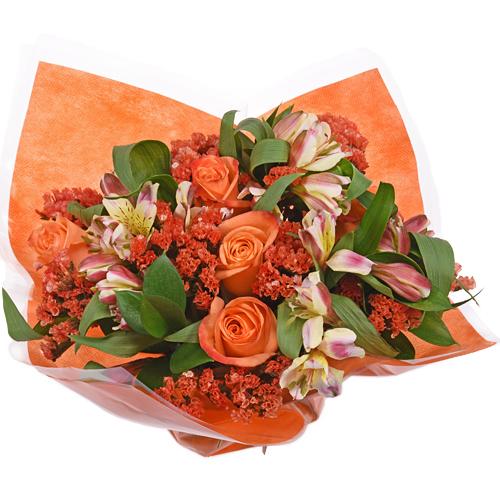 Monochromatic Orange Bouquetta Centerpieces