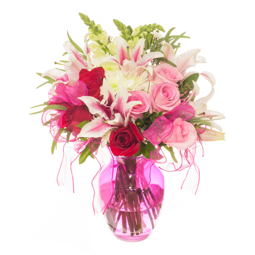 Pretty in Pink Valentines Arrangement