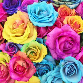 Tie Dye Mini Roses