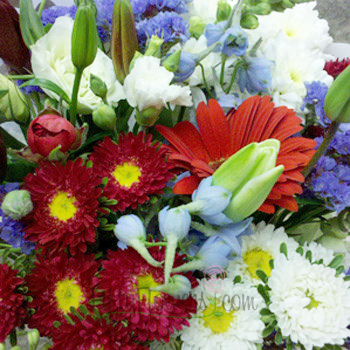 Red White and Blue Independence Flower Bouquet