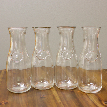 Milk Bottle Glass Vases Medium