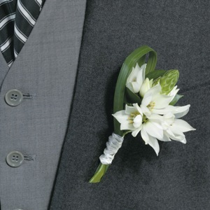 Star of Bethlehem Boutonniere and Corsage Wedding Package