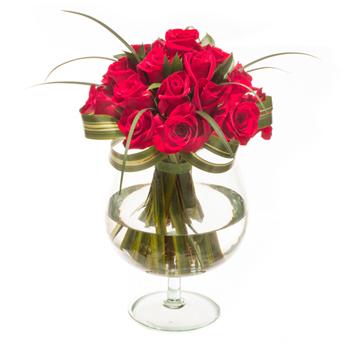 Undying Devotion Red Rose Arrangement