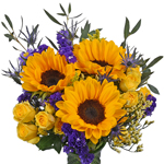 Pink, Yellow and Purple Flowers Party Centerpieces