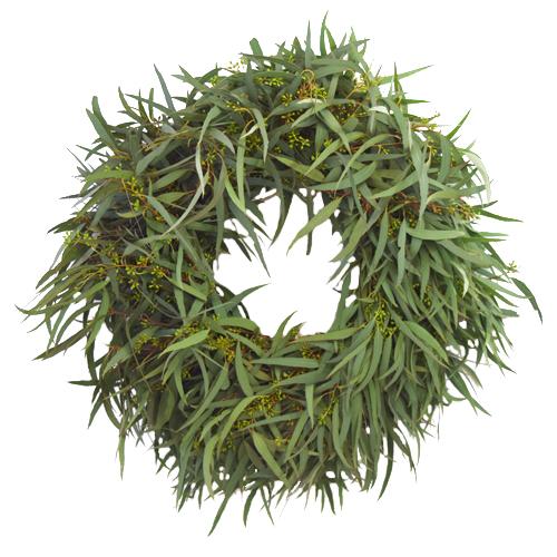 Fresh Willow Seeded Eucalyptus Wreaths