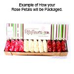 Buy Bulk Pale Green Rose Petals