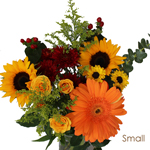 Sunflowers and Orange Flowers Bridal Centerpieces