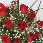 Gift Bouquet 24 Long Stemmed Roses Valentine's Day