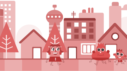 Red Quarter - The Neighborhood of Colors Personalized Book For Kids