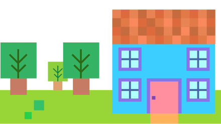 The Square House - The City of Shapes Personalized Book For Kids
