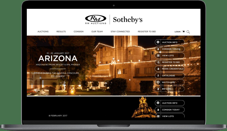 Stateside project | RM's Sothebys Website device #1