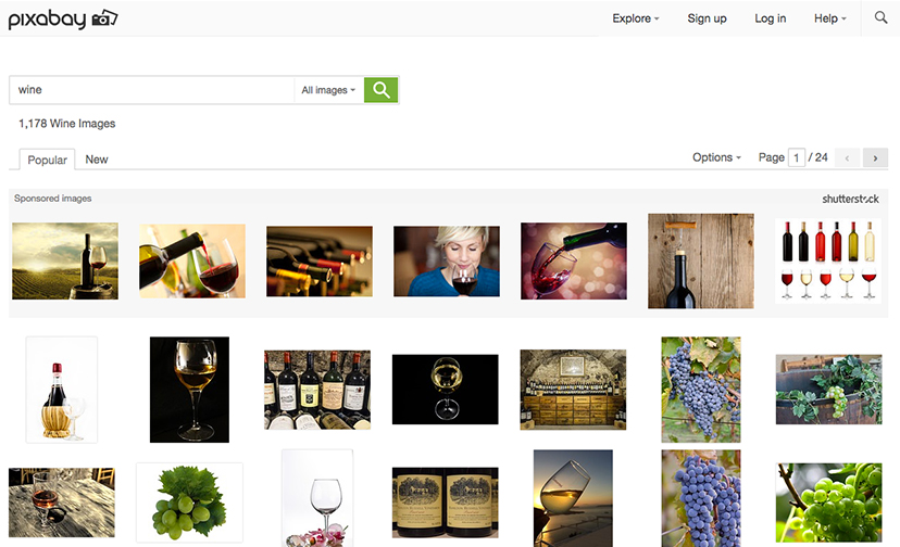 Photo search engines such as Pixabay are all about quantity over quality.