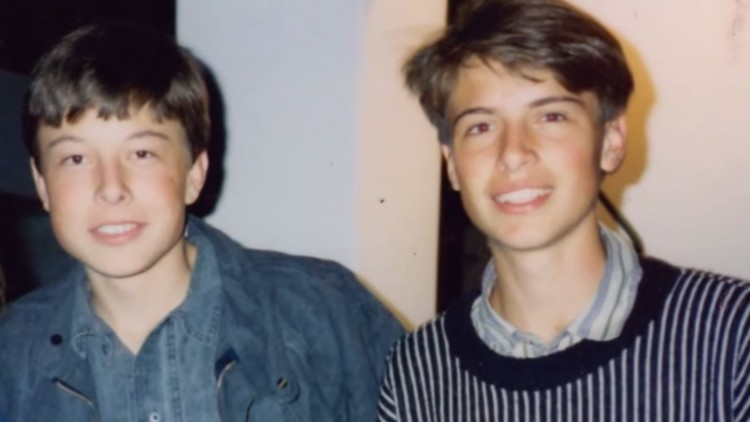 An early photograph of Musk and Kimbal