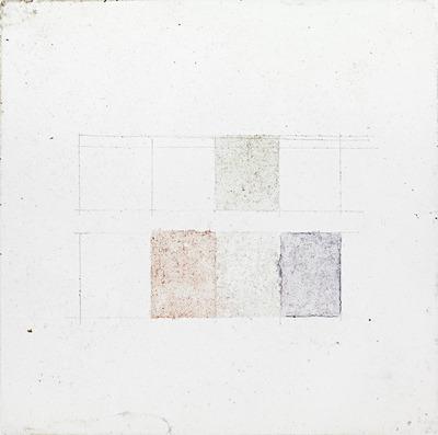 vintage Color splotches, Square splotches, Pencil sketches, multiple color, faint color