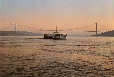 Boat, Bridge, Ocean, Boat in Ocean, Bay,