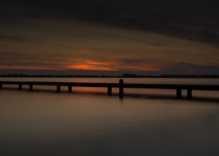 Sunset, Bridge at sunset, Ocean at Sunset, Bridge at Twilight, Sea at Twilight