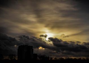 Grey Skies, Clouds, Dark Clouds, Rain Clouds, Sun in Cloud