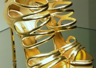 Shoes, Gold Shoes, High Heel Shoes, Stiletto, Gold Stiletto