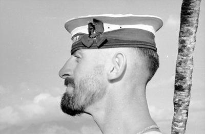 sailor, mariner, seaman, beard, man, mustache, sailor cap, sailor hat, navy