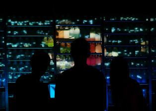 people, night, interior, windows, lights, bottles, view