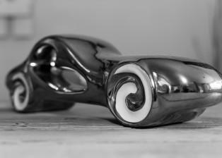 figure, figurine, ceramic, car, vehicle, automobile, art