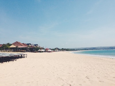 beach, sand, sandy, ocean, sea, water, waves, house, hotel, parasols, sea surface, structure
