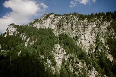 bavaria, land, alps, mountain, sky, clouds, woodland, nature