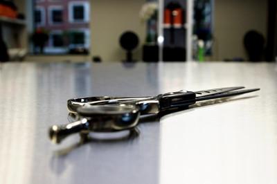 scissors, table, tools, interior, metal, sharp, cutting