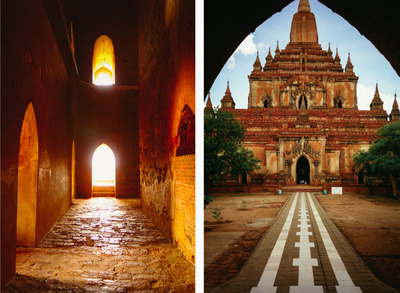 myanmar, castle, architecture, landmark, sky, clouds, trees, structure, passageway, bricks, stone