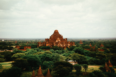 myanmar, castle, architecture, greenery, landmark, sky, clouds, trees, structure, temples, ancient