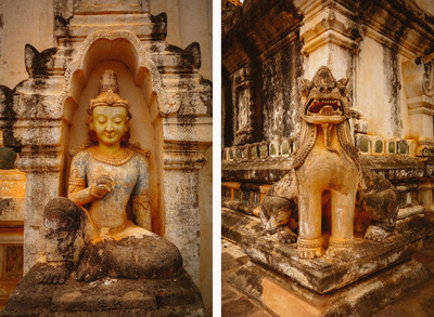 buddha, buddhism, stone, carving, statues, walls, architecture, ancient, statue