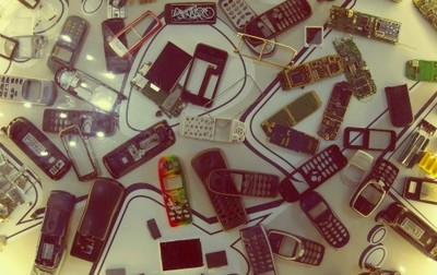 mobile phones, cell phones, technology, old, communication, nokia, recycling