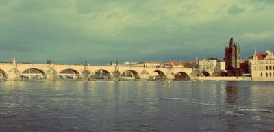 czech, prague, city, capital, charles bridge, architecture, landmark, bridge, sky, river, water