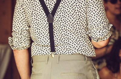man, fashion, style, trousers, pants, shirt, suspenders, clothes, trend, outfit, pattern, fabric
