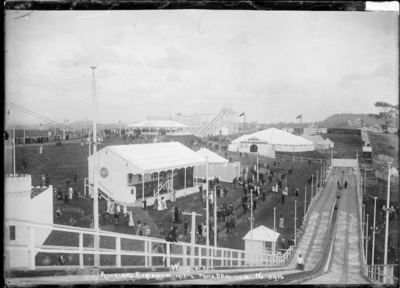hippodrome, roller, coaster, history, black, white, auckland, old, people