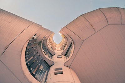 building, architecture, urban, modern, sky, concrete, windows