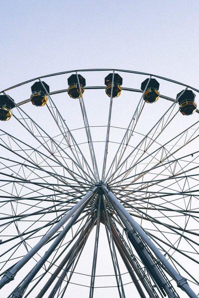 ferris, wheel, amusement, park, ride, sky, fun