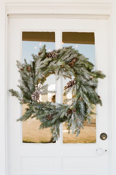 christmas, xmas, december, holidays, decoration, door, wreath