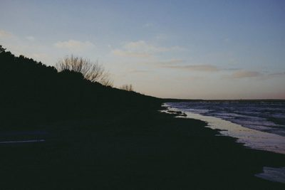 ocean, sea, water, beach, sand, sky, clouds, dusk, sunset, nature
