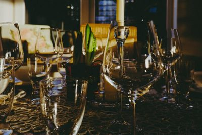 table, glasses, bar, cafe, drinks, wine, glass